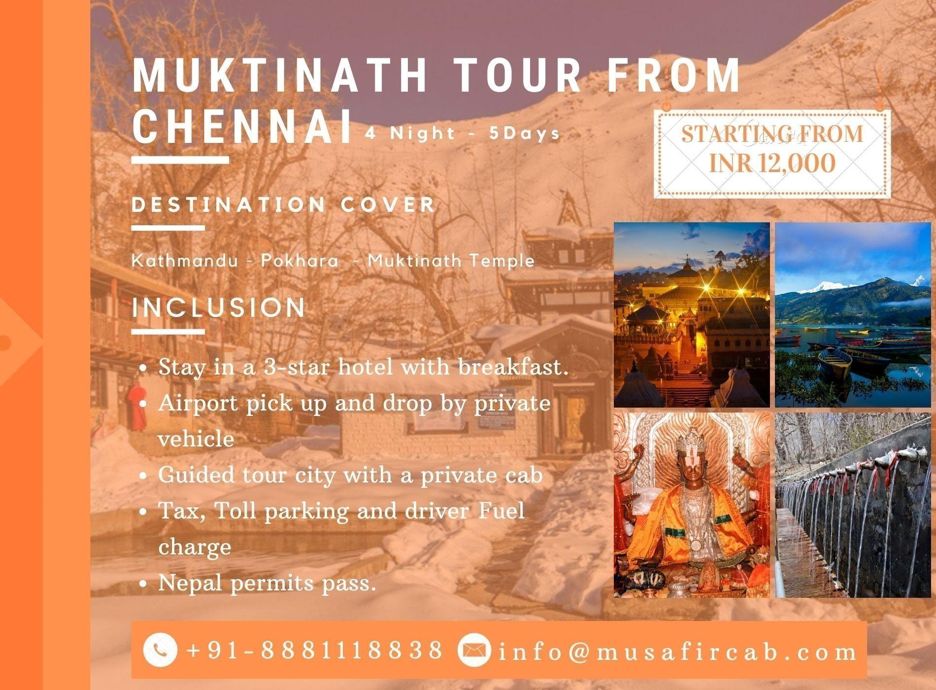 Muktinath Tour from Chennai